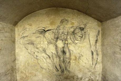 desene in carbune Michelangelo