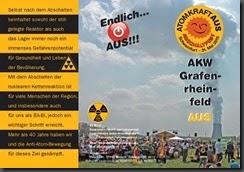 Flyer Abschaltfest in Dreifachfaltung