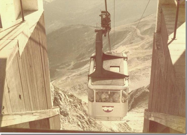 Cable car to Alps