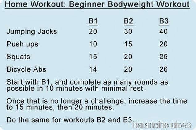 Balancing Bites - Home Workout: A Beginner Bodyweight Workout