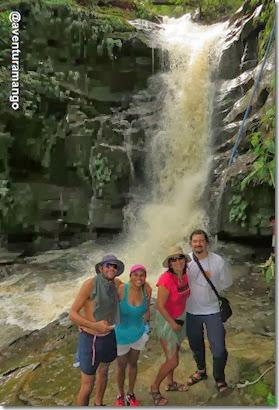 Na parte alta da Cachoeira de D. Luiza - Riachão, MA