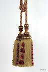 Stylowy chwost do zasłon, tkanin i dekoracji wnętrz.