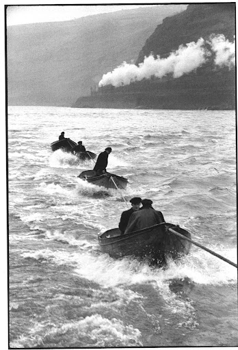 On the Rhine, Germany, 1956. He captures the sea's movement.