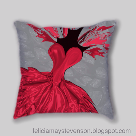 Red dress cushion by felicianation on store envy