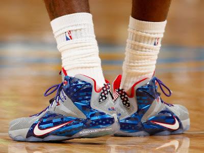 lebron james nba 141105 cle at den 04 #WDYWT: LeBron James Sick Nike LeBron 12 Veterans Day PE