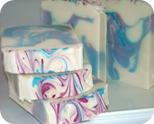 Holly Swirl soap club aug13