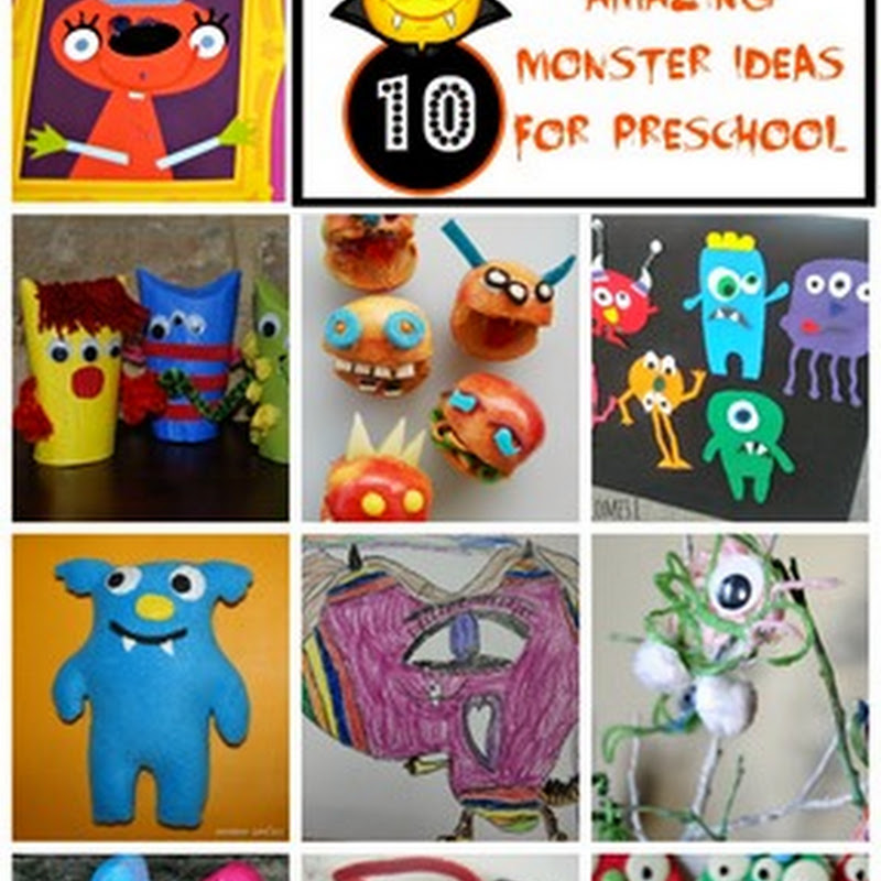 Preschool Art: Monsters