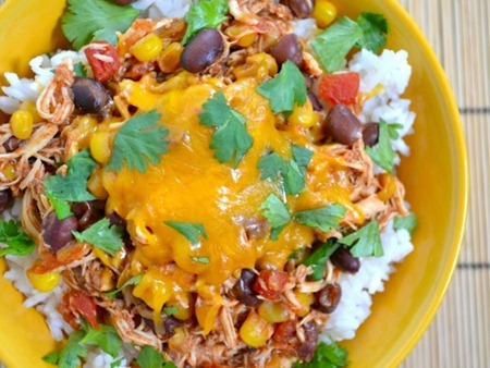 Taco Chicken Bowl Recipe from Budget Bytes