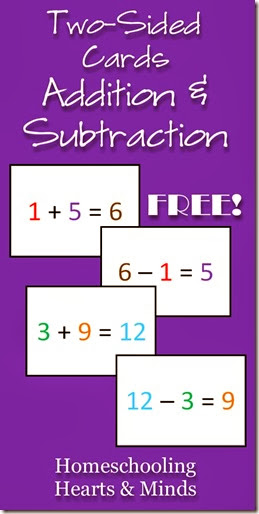 Full-Color Addition And Subtraction Printable Flashcards