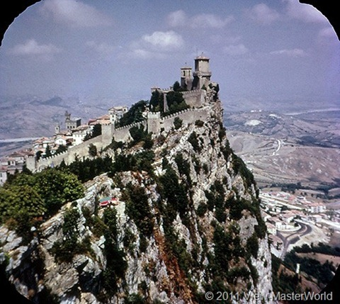 View-Master The Five Little Countries of Europe (B149), Scene 16: San Marino-Mt. Titano