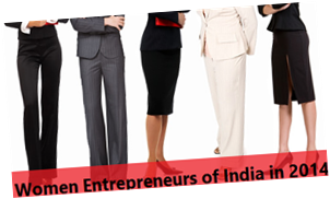 Women Entrepreneurs of India in 2014