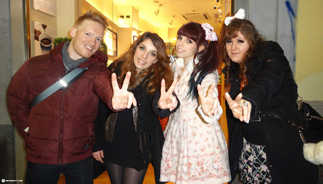 getting a tour of milan by the girls from GYARU MILANO in Milan, Milano, Italy