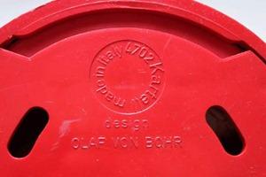 Olaf von Bohr 4702 hook for Kartell, red