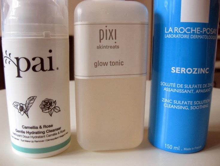 Pai-Cleanser,Pixi-Glow-Tonic-Toner-LaRochePosay-Serozinc-toner