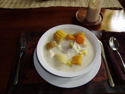 sopa de coco
