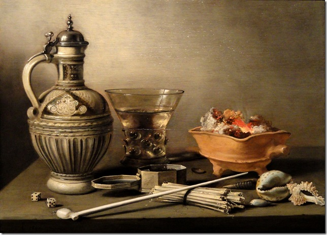 Pieter Claesz_Still_Life_with_a_Stoneware_Jug,_Berkemeyer_and_Smoking_Utensils-_Indianapolis_Museum_of_Art_
