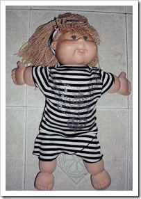 Doll Dress from a T-shirt