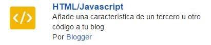 Menú CSS en Blogger - gadget HTML/Javascript