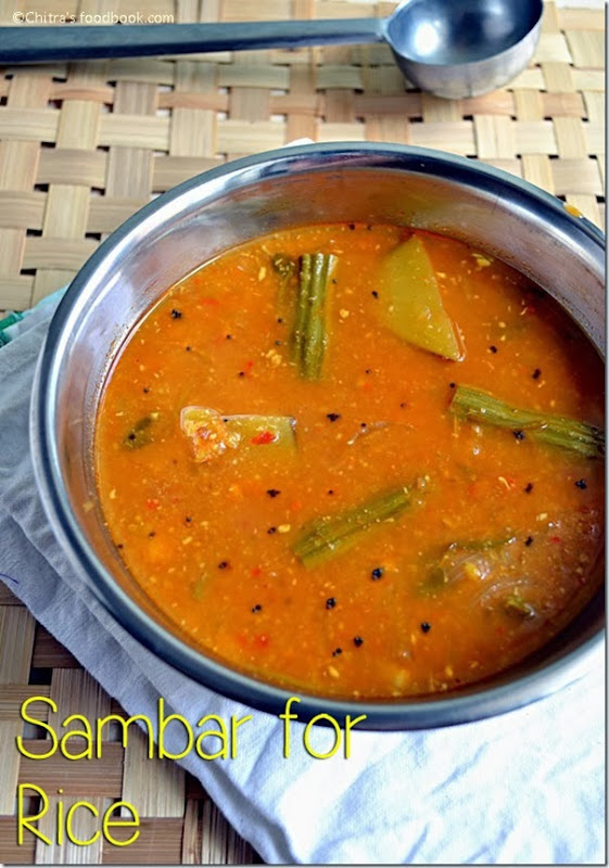 Sambar recipe for rice