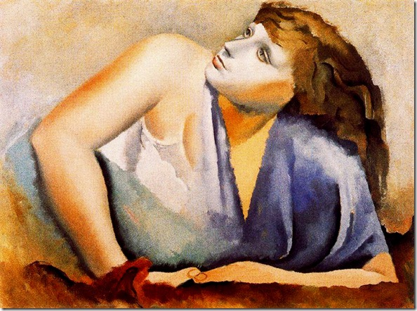 Josep de Togores i Llach - Mujer en azul -1925