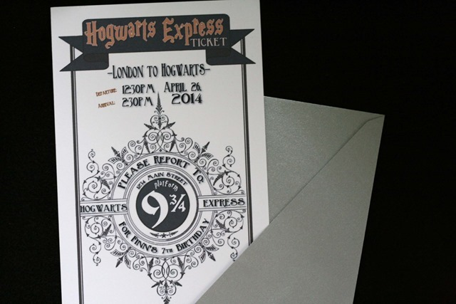 Harry Potter Birthday Party – Harry Potter Birthday Invitation