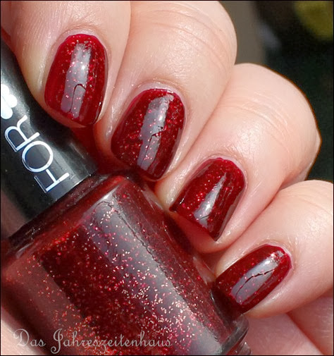 Bordeaux For You Nagellack Rot mit Glitzer 2