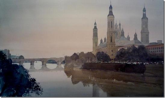 5 El Pilar y el Ebro 144 x 87cm