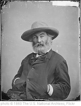 'Walt Whitman, ca. 1860 - ca. 1865' photo (c) 1860, The U.S. National Archives - license: http://www.flickr.com/commons/usage/
