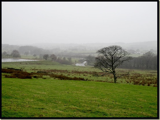 A view to the Leeds and Liverpool Canal and Hoghton