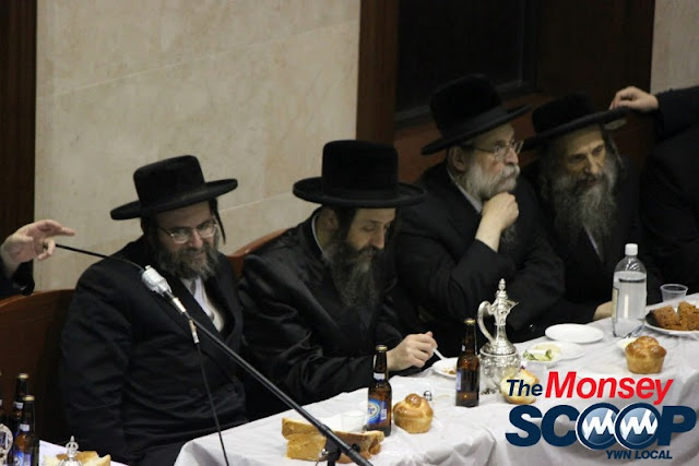 Yartzheit Tish For Stamar Rebbe Held In Satmar Beis Medrash Of Monsey (Photos by Moshe Lichtenstein) - IMG_5561.JPG