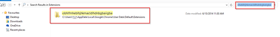 Findin-malware-extension-folder