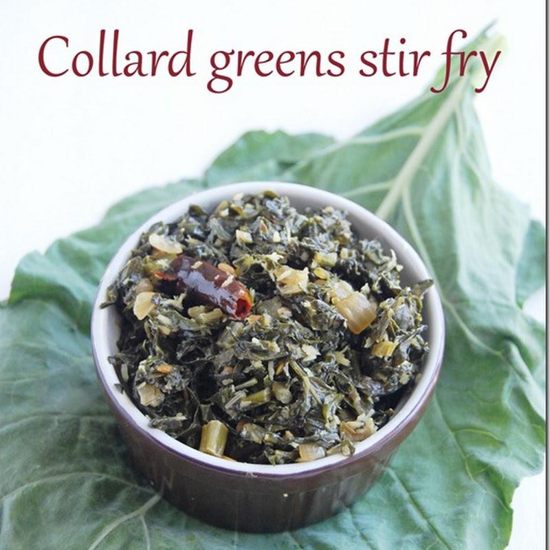 Collard greens stir fry