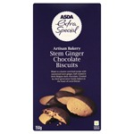 Asda Extra Special Artisan Bakery Stem Ginger Chocolate Biscuits 150g