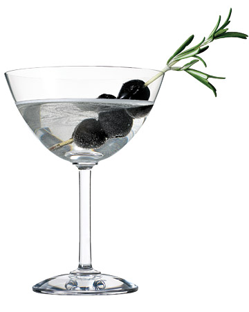 Olive-Rosemary Martini. (marthastewart.com)