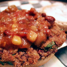 Mexican Bean Burgers W/ Lime Yogurt & Salsa