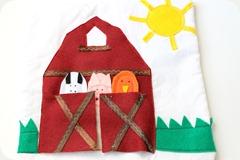 Quiet book farm finger puppets
