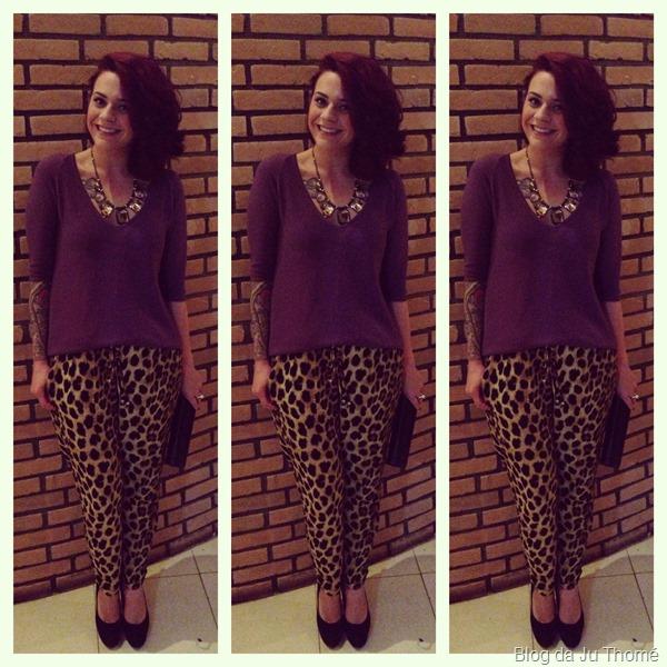 look calça animal print, tricot roxo e sapato miesko (2)