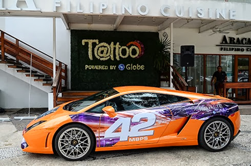 Lamborghini Gallardo with Tattoo LTE Decale