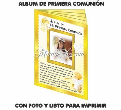 Álbum de Recuerdos de Primera Comunión | Listo para IMPRIMIR ...