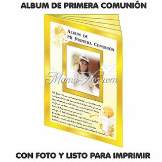 Álbum de Recuerdos de Primera Comunión | Listo para IMPRIMIR