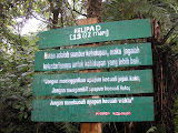 Helipad sign on the way to Salak crater (Daniel Quinn, May 2010)