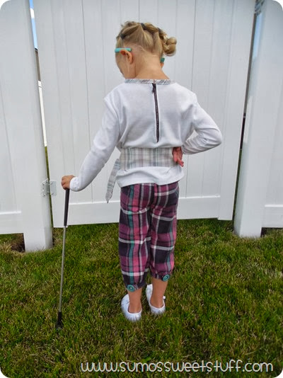 Golfer Girl - Mad for Plaid them for Project Run & Play at www.sumossweetstuff.com #plaid #sewing