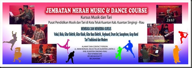 Banner Jembatan Merah Music & Dance Course (JMMDC)