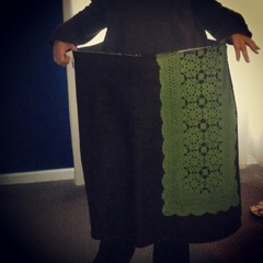 Ooops. Looks like I made the wrong size skirt. Poor body image or what?