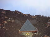 Monument near the summit of Slamet (Daniel Quinn, April 2010)