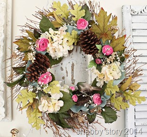 shabby story wreath