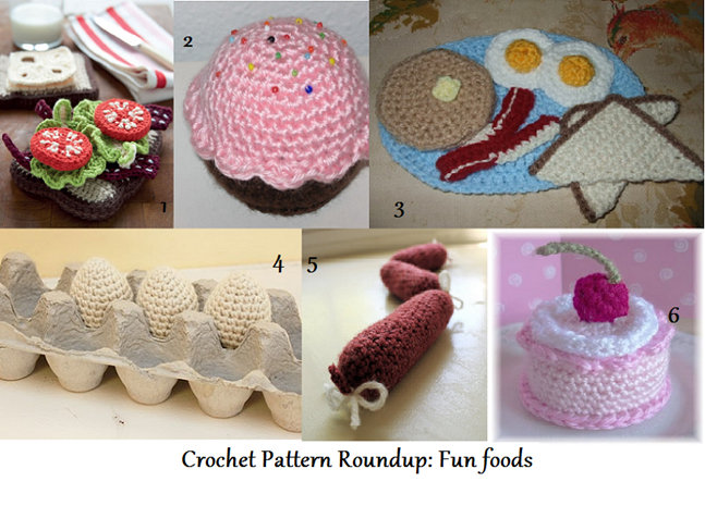 roundup - crochet foods