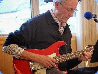 Brian Gunson accompanied Denise Gunson with his USA G & L electric guitar. Photo courtesy of Dennis Lyons