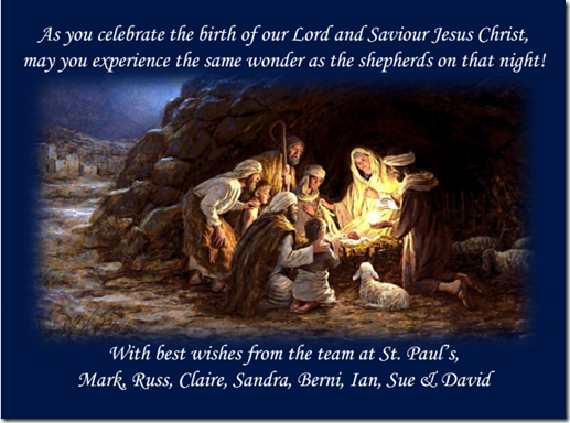 St Paul's Christmas Card 2013