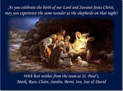St Paul's Christmas Card 2013